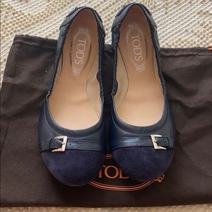 TOD'S loafers ballet leather new size 9